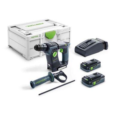 Festool BHC 18 HPC 4,0 I-Plus Borrhammare med väska, 4,0Ah batterier och laddare