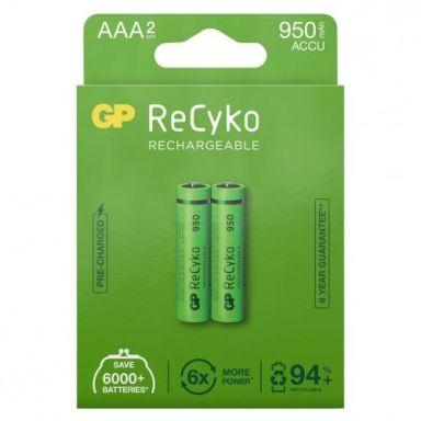 GP Batteries ReCyko 950 Oppladbare batterier AAA, 2-pakk
