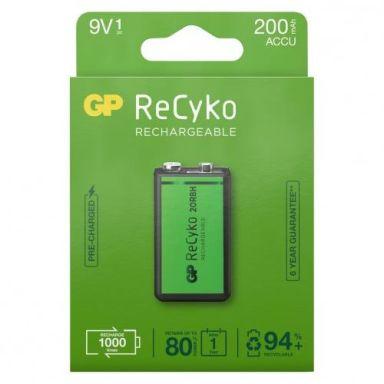 GP Batteries ReCyko 200 Laddbart batteri 9V