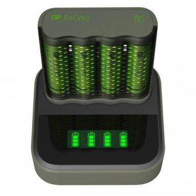 GP Batteries ReCyko Speed M451 Batteriladdare med AA-batterier och laddstation
