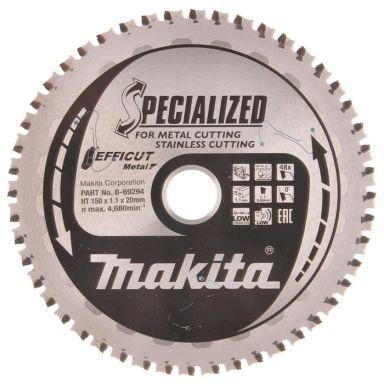 Makita B-69294 Pyörösahanterä 150 mm, ruostumattomalle metallille