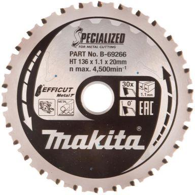 Makita B-69266 Sahanterä 136 mm, metallille