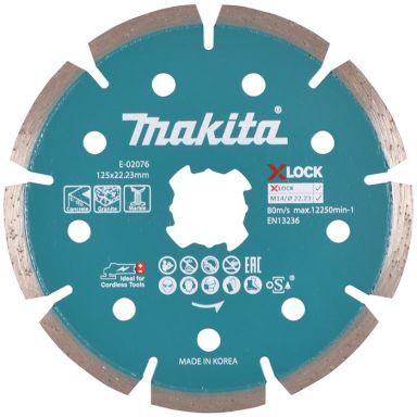Makita E-02076 Timanttikatkaisulaikka 125 mm, X-LOCK-järjestelmä