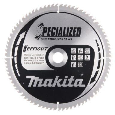 Makita B-67262 Sahanterä 305 mm, 80 hammasta