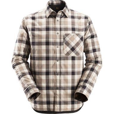 Snickers 8501 RuffWork Flanell skjorte foret, svart / khaki