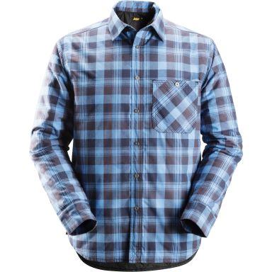 Snickers 8501 RuffWork Flanell skjorte foret, marine / blå
