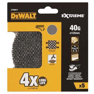 Dewalt DTM8671 Slipnät 125 mm, 5-pack