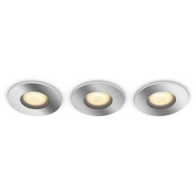 Philips Hue White Ambiance Adore Downlight med dimmer, krom, 3-pack