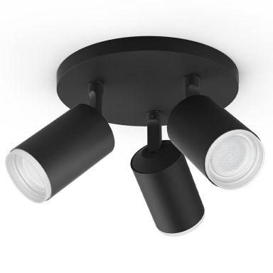 Philips Hue Fugato Spotlight svart, 3 x 5,7 W LED