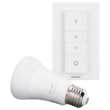 Philips Hue Dim LED-lampe med dimmer, E27, 9 W