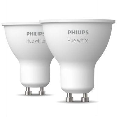 Philips Hue White LED-lampa 5.2W, GU10, 2-pack