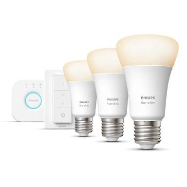 Philips Hue White Startpakke for smartbelysning, 3 x 9 W