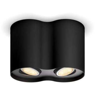 Philips Hue Pillar Spotlight dubbel, 5.5W LED, GU10