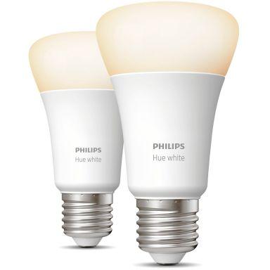 Philips Hue White LED-lampa 9W, E27, A60, 2-pack