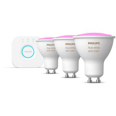 Philips Hue White and Color Ambiance Startpakke for smartbelysning, 3 x 5,7 W