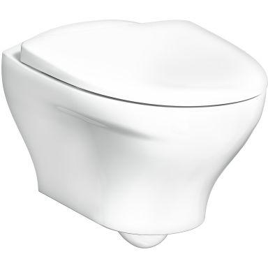 Gustavsberg Estetic 8330 WC-istuin kiinnikkeillä ja seinäpainikkeella