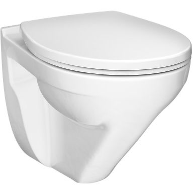 Gustavsberg Nordic³ WC-istuin kiinnikkeillä ja seinäpainikkeella