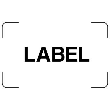 PPS 2074 Etikett hvit
