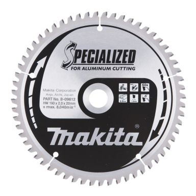 Makita B-09612 Sahanterä 190x20x2,0 mm, 60T