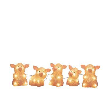 Konstsmide 6232-343 Dekorasjonsbelysning griser, 5 stykker