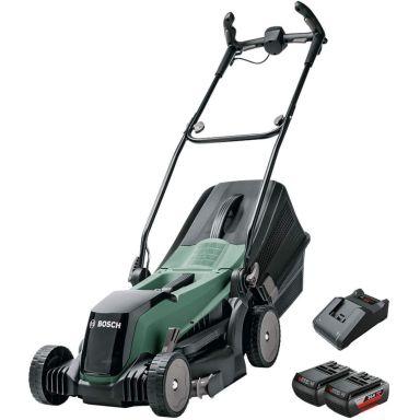 Bosch DIY Easy Rotak 36-550 Gräsklippare med 2 st 2,0Ah batterier och laddare