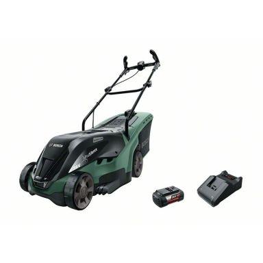 Bosch DIY Universal Rotak 36-550 Gräsklippare med 4,0Ah batteri och laddare