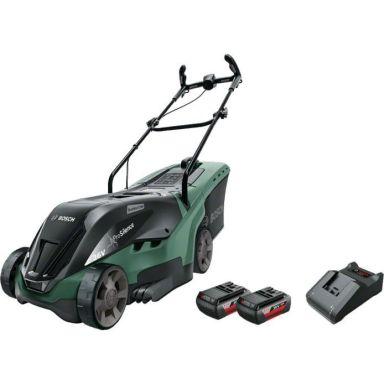 Bosch DIY Universal Rotak 36-560 Gräsklippare med 2 st 2,0Ah batterier och laddare