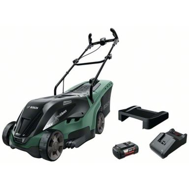 Bosch DIY Universal Rotak 36-590 Gräsklippare med 4,0Ah batteri och laddare