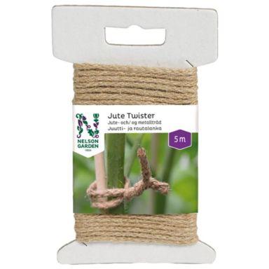 Nelson Garden Jute Twister Bindtråd natur, 5 m