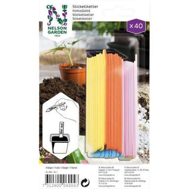 Nelson Garden 6004 Nimikyltti muovia, 4 väriä, 4x10 kpl