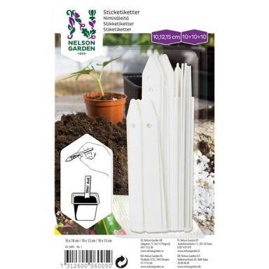 Nelson Garden 6005 Nimikyltti muovia, 3 kokoa, valkoinen, 3x10 kpl
