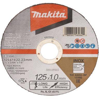 Makita E-03040 Katkaisulaikka 125 x 1,0 x 22,23 mm