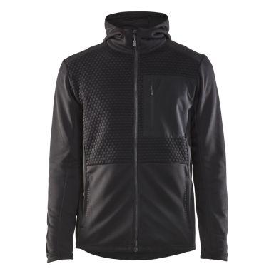 Blåkläder 354025269900XXL Luvtröja svart, full zip