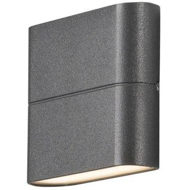 Konstsmide Chieri Vegglampe 2x3W, LED, antracit