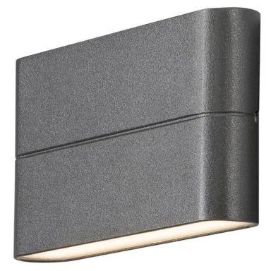 Konstsmide Chieri Vegglampe 2x6W, LED, antracit