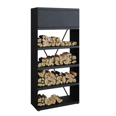 OFYR Wood Storage Black 100 Förvaringshylla svartlackerat stål