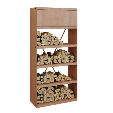 OFYR Wood Storage Corten 100 Förvaringshylla cortenstål, 100 x 216 cm