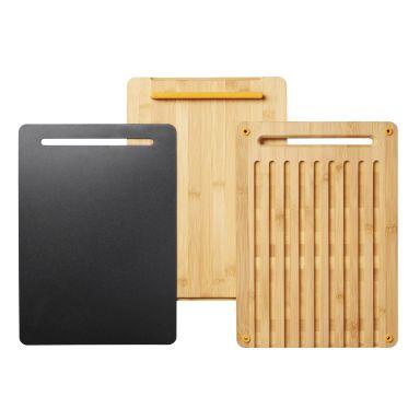 Fiskars Functional Form Skjærebrett bambus, 3 deler
