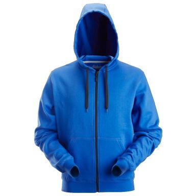Snickers 2801 Luvtröja klarblå, med dragkedja