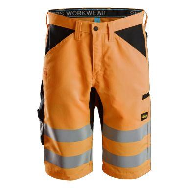 Snickers 6132 LiteWork Shorts varsel, orange/svart