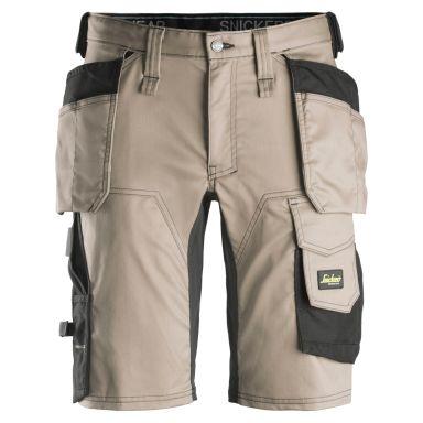 Snickers 6141 AllroundWork Shorts khaki/svart
