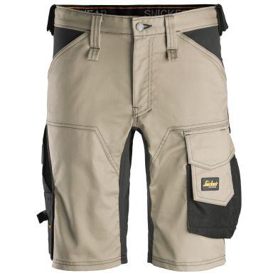 Snickers 6143 AllroundWork Shorts khaki/svart