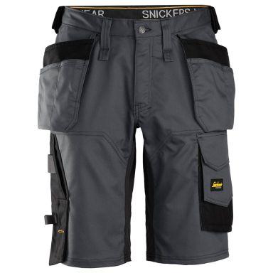 Snickers 6151 AllroundWork Shorts stålgrå/svart