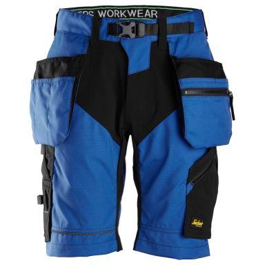 Snickers 6904 FlexiWork Shorts klarblå/svart