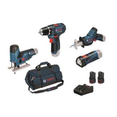 Bosch GSR/GSA/GST/GLI Verktygspaket med väska, laddare och 2 x 2,0 Ah litiumbatterier