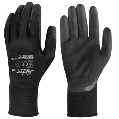 Snickers 9388 Power Flex Guard Handske svart/svart