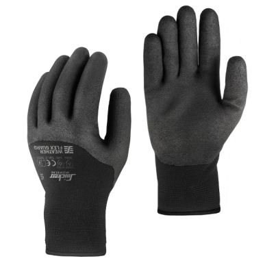 Snickers 9395 Weather Flex Guard Handske svart/svart