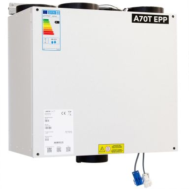 Acetec EvoAir A70T EPP Ventilasjonsaggregat hvit