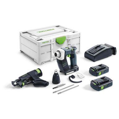 Festool DWC 18-4500 C 3,1-Plus Skruvautomat med väska, batterier och laddare