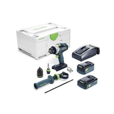 Festool TDC 18/4 5,2/4,0 I-Plus Skruvdragare med väska, batterier och laddare